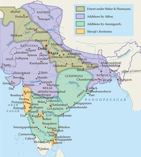 mughal empire history sher shah suri akbar shah jahan aurangzeb