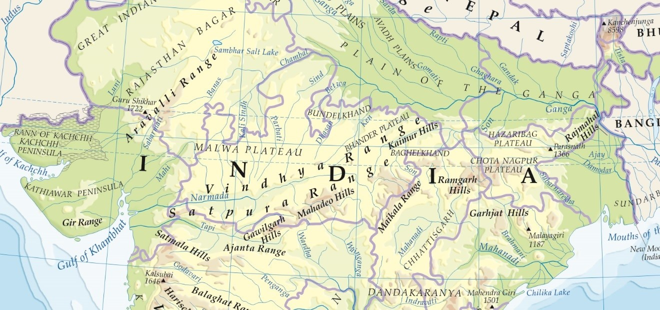 mountains & Plateaus in india