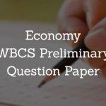 Economy WBCS Preliminary Question Paper