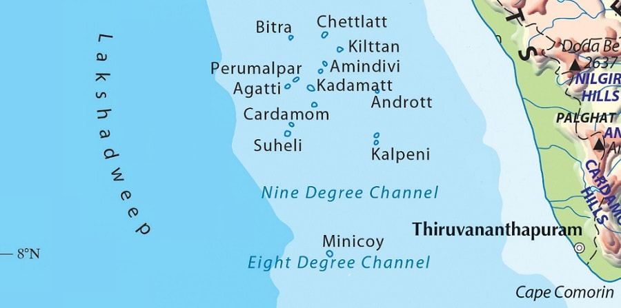 lakshadweep island map