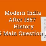 After 1857 & Nationalism History WBCS Main Question Paper