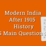 After 1915 Gandhiji & Mass movement History - WBCS Main Question Paper