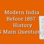 Before 1857 Revolt History WBCS Main Question Paper