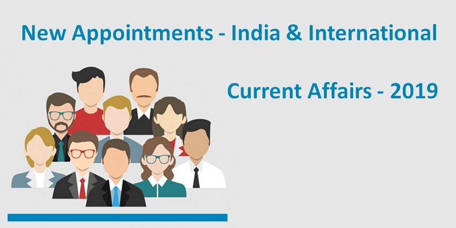 new appointments in india & international