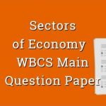 Sectors of Indian Economy WBCS Main Question Paper