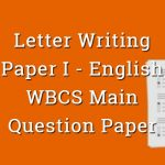 Letter Writing - English - WBCS Main Question Paper